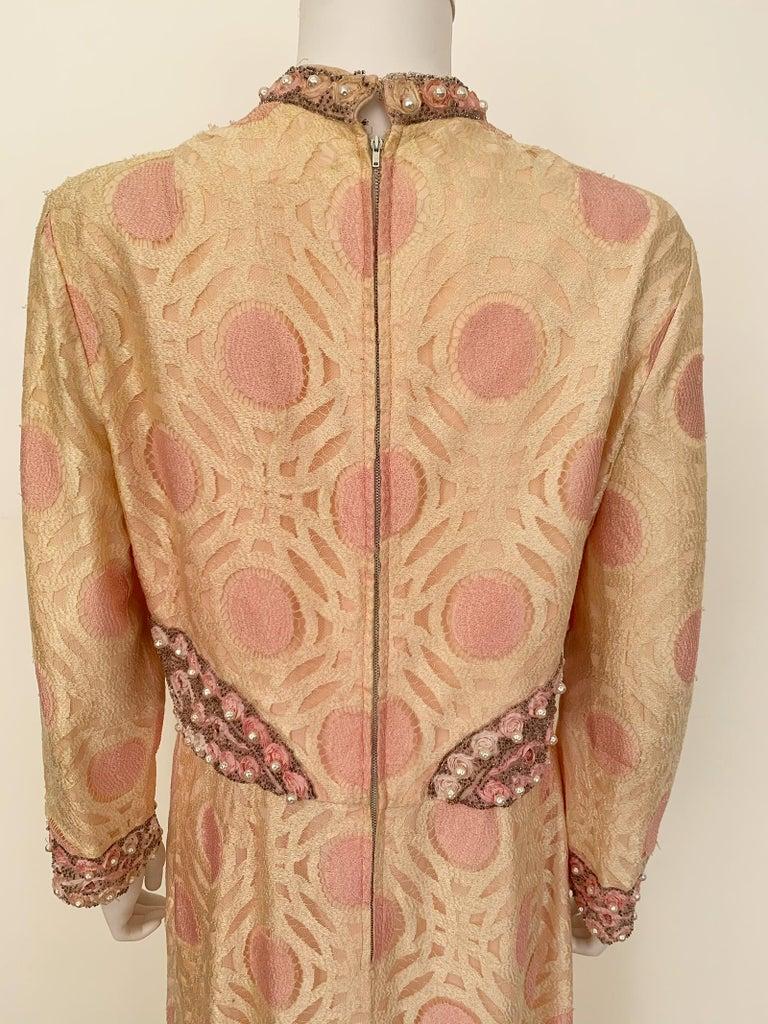 Vintage Caftan Dress Embroidery 1960 For Sale 1