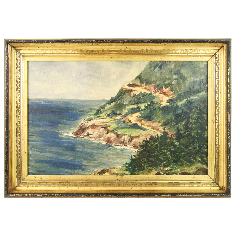 Vintage California Coastal Landscape  Painting