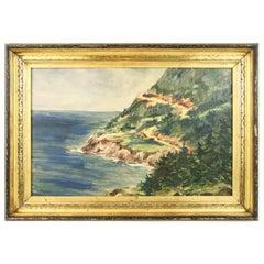 Vintage California Coast Painting