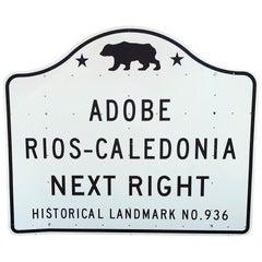Vintage California Historical Landmark Sign