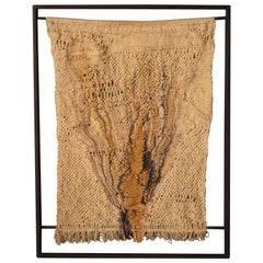 Vintage California Macramé Fiber Art Wall Hanging Tapestry by Marion Ferri