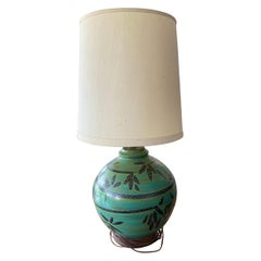 Vintage California Pottery Table Lamp