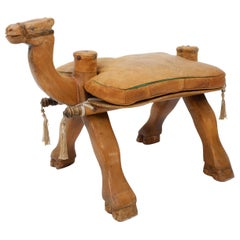 Vintage Camel Saddle Stool, 1960s