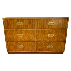 Vintage Campaign Style Dresser Chest of Drawers by Dixie