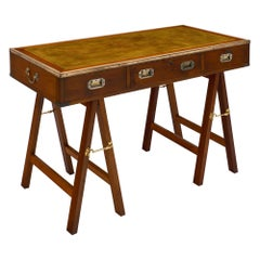 Vintage Campaign Style Writing Desk