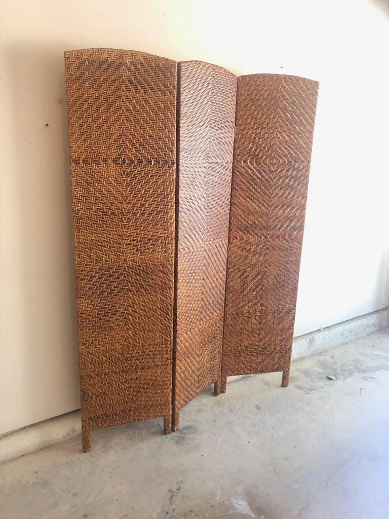 Vintage Cane Room Divider For Sale 4