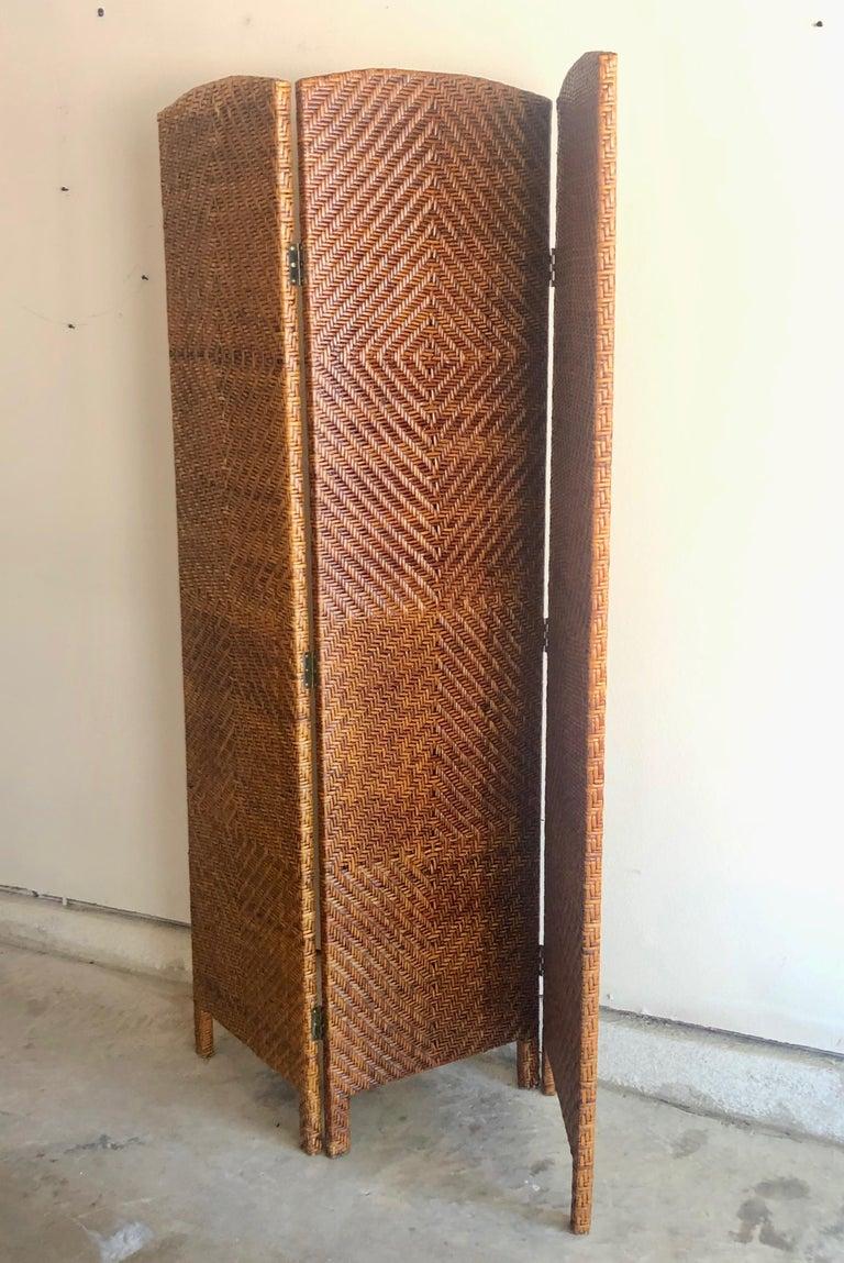 Vintage Cane Room Divider For Sale 11