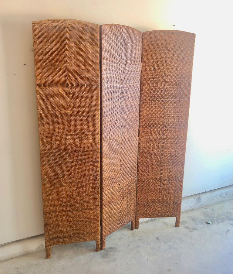 Cane room divider / screen. This piece is also great for a living room decoration.