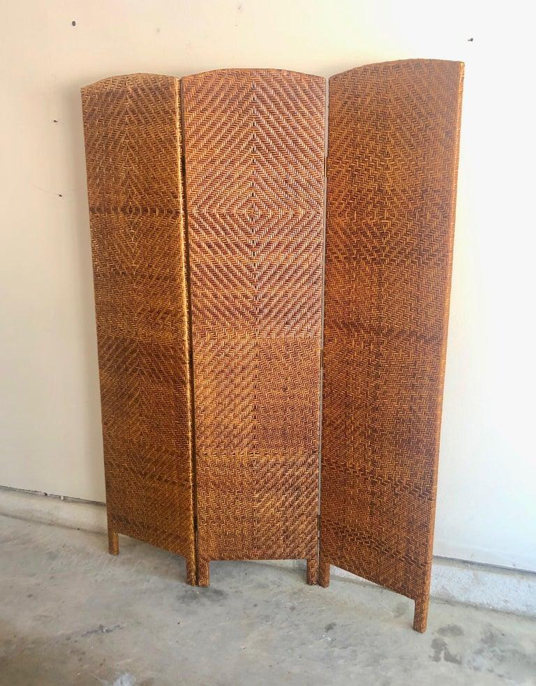 Vintage Cane Room Divider For Sale 3