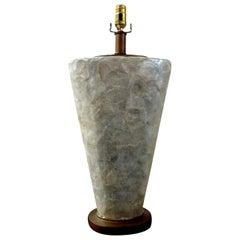 Vintage Capiz Shell Lamp