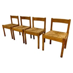 Vintage Carimate Dining Chairs by Vico Magistretti, 1970s