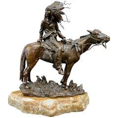 Vintage Carl Kauba Bronze, Indian Chief on Horseback