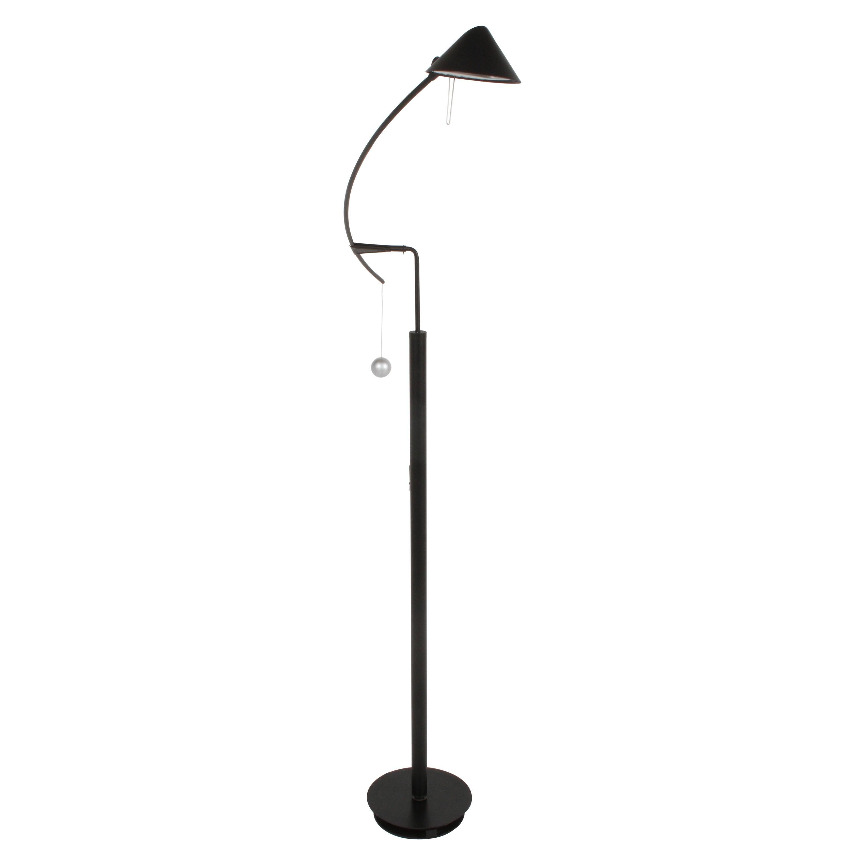 Vintage Carlo Forcolini Post-Modern Black Floor Lamp for Artemide Italy, 1980s