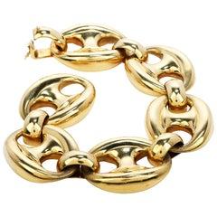 Vintage Carlo Weingrill 1970s 18K Gold Designer Link Bracelet