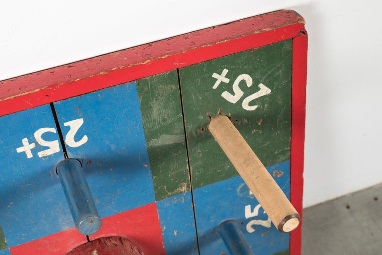 American Vintage Carnival Midway Wood Ring Toss Game For Sale