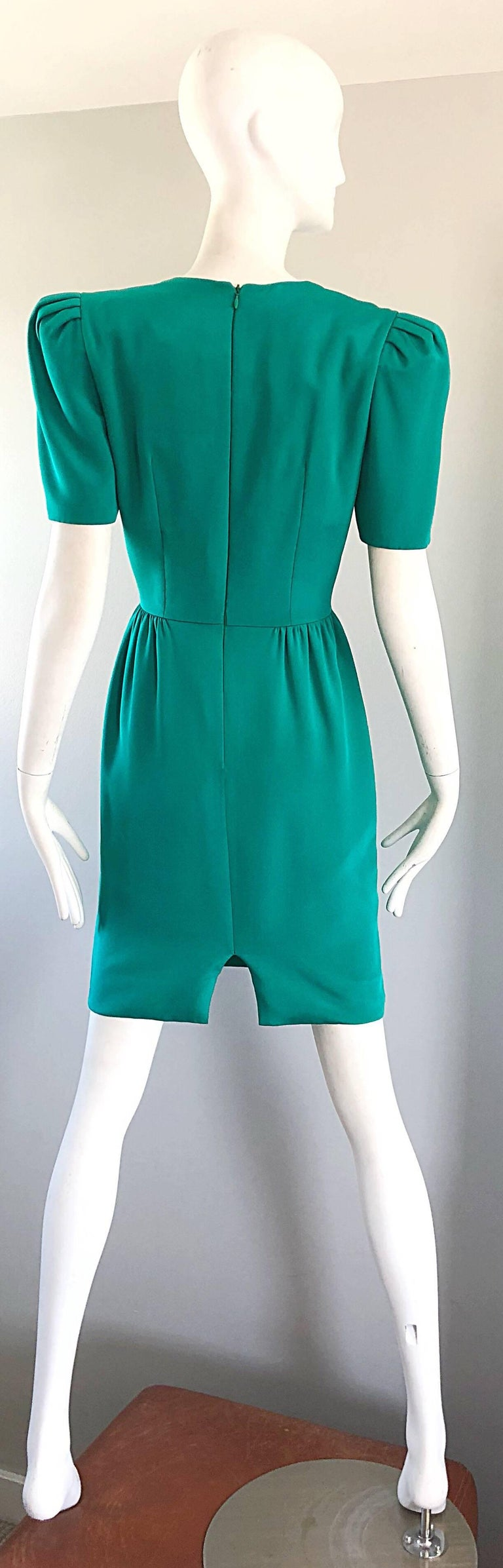 Vintage Carolina Herrera Size 6 1980s Kelly Green Strong