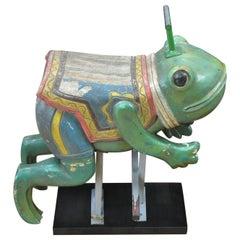 Vintage Carousel Frog Sculpture, 1970s