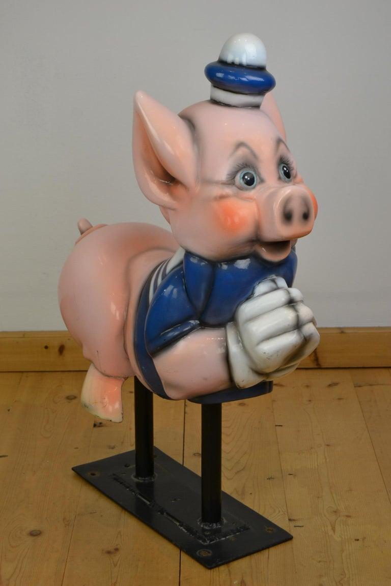 Vintage Carousel Ride Pig, Little Pig, Porky Pig, 1960s For Sale 3