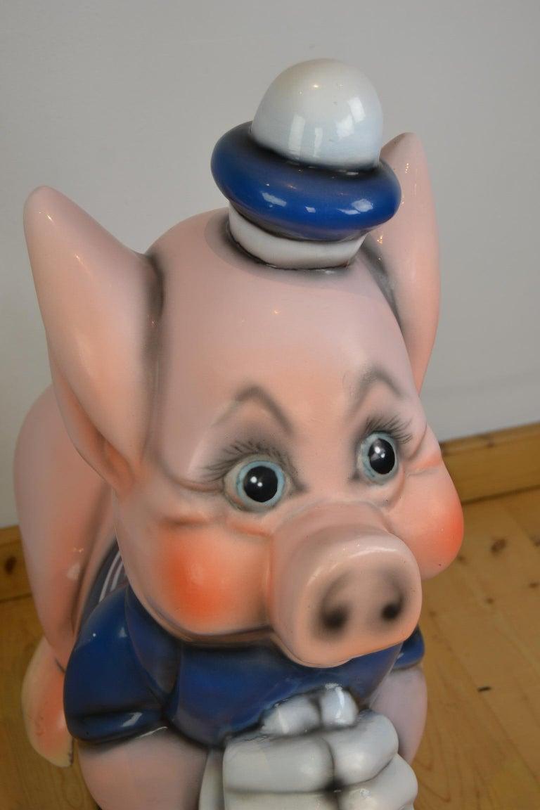 Vintage Carousel Ride Pig, Little Pig, Porky Pig, 1960s For Sale 4