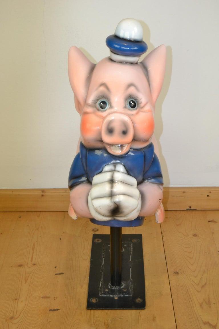 Vintage Carousel Ride Pig, Little Pig, Porky Pig, 1960s For Sale 8