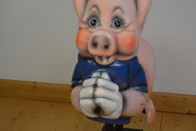 Vintage Carousel Ride Pig, Little Pig, Porky Pig, 1960s For Sale 11
