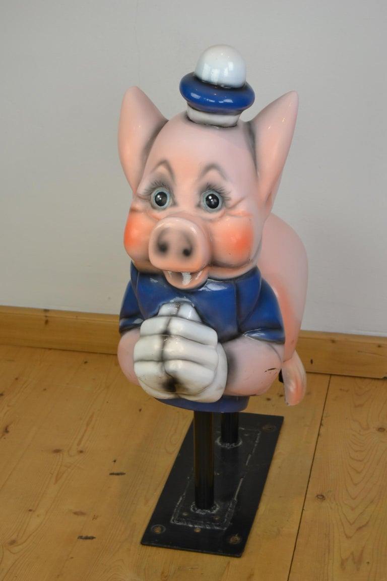 Vintage Carousel Ride Pig, Little Pig, Porky Pig, 1960s For Sale 12