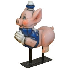 Vintage Carousel Ride Pig, Little Pig, Porky Pig, 1960s