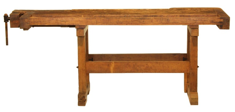 Industrial Vintage Carpenters Bench For Sale