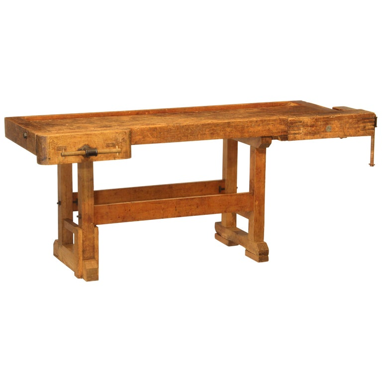 Vintage Carpenters Bench For Sale