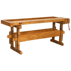 Vintage Carpenter's Workbench Rustic Console Table, Denmark