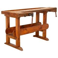 Vintage Carpenter's Workbench Table from Denmark
