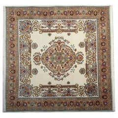 Vintage Carpet Area Rug Oriental Square Traditional Rug