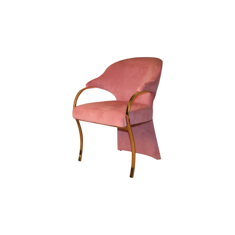 Vintage Carson's Art Deco Hollywood Regency Brass Arm Cantilever Chair