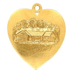 Vintage Cartier 14 Karat Gold Heart Charm