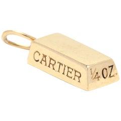 Vintage Cartier 18 Karat Gold 1/4 Oz Ingot Charm