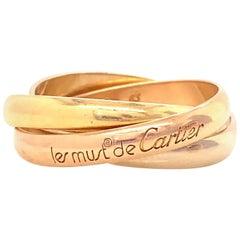 Vintage Cartier 18 Karat Gold Trinity Ring