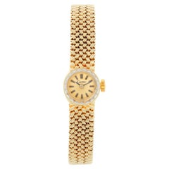 Vintage Cartier 18 Karat Yellow Gold Ladies Watch