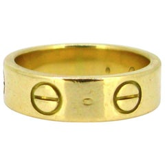 Vintage Cartier 18 Karat Yellow Gold Love Ring