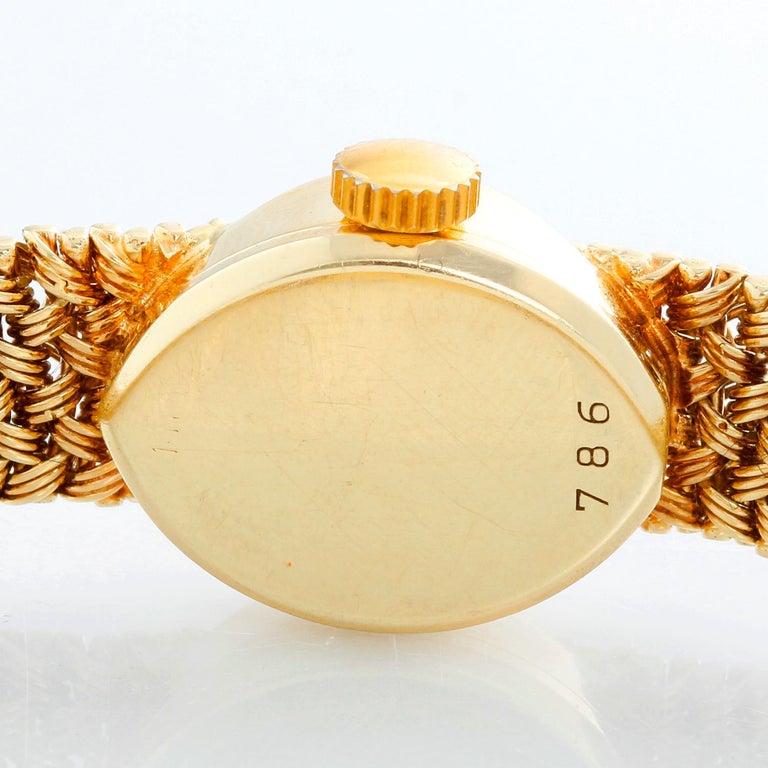 Women's Vintage Cartier 18 Karat Yellow Gold Ladies Watch For Sale
