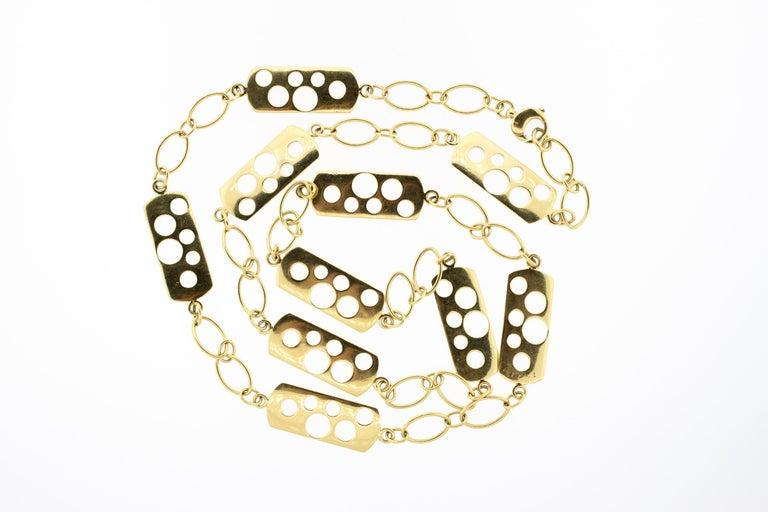 Modern Vintage Cartier 1970s 18 Karat Gold Fancy Link Necklace For Sale