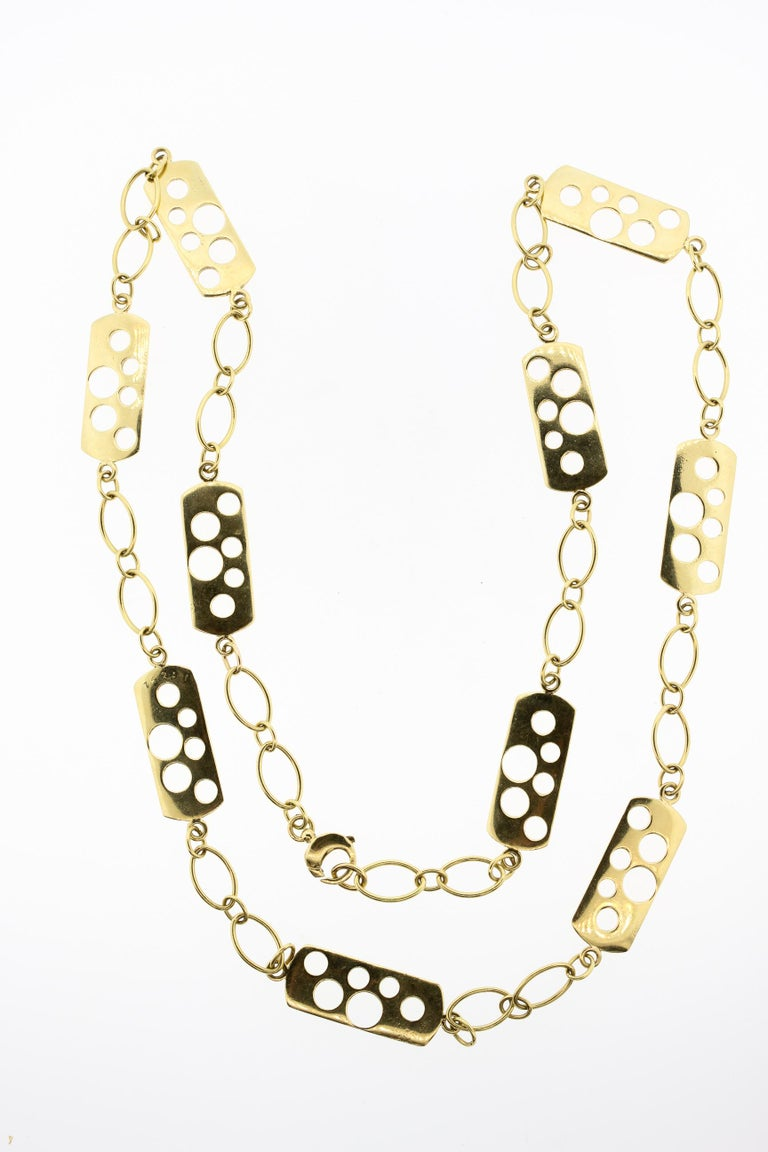 Vintage Cartier 1970s 18 Karat Gold Fancy Link Necklace In Good Condition For Sale In New York, NY