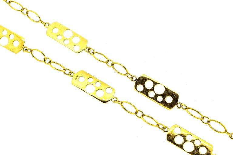 Vintage Cartier 1970s 18 Karat Gold Fancy Link Necklace For Sale 2