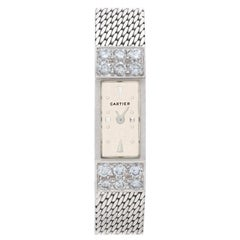 Vintage Cartier 8064269, 18 Karat White Gold, White Dial, Diamond Case Manual