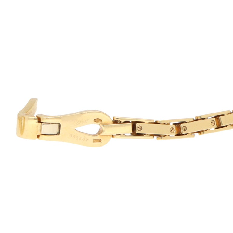 Vintage Cartier Agrafe Chunky Chain Necklace Set in 18k Yellow Gold For Sale 1