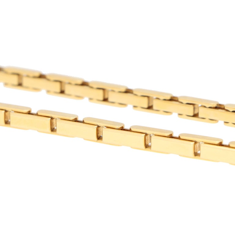 Vintage Cartier Agrafe Chunky Chain Necklace Set in 18k Yellow Gold For Sale 2