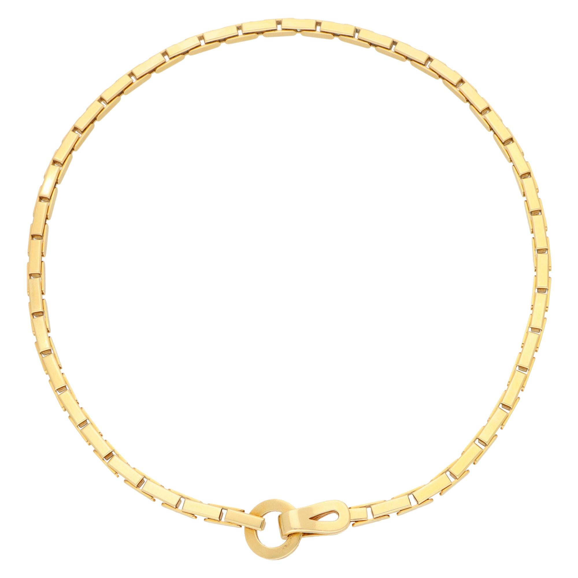 Vintage Cartier Agrafe Chunky Chain Necklace Set in 18k Yellow Gold
