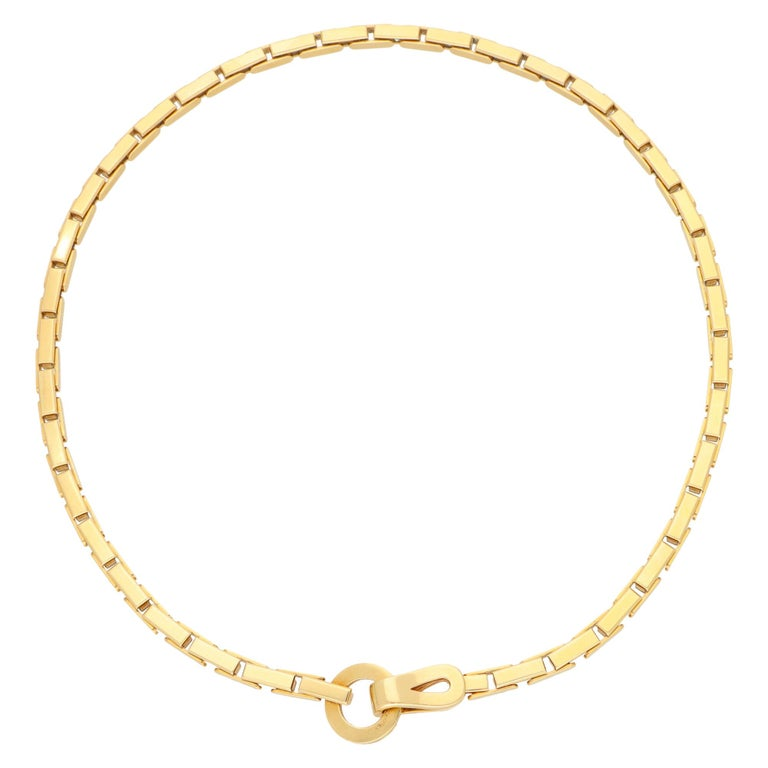 Vintage Cartier Agrafe Chunky Chain Necklace Set in 18k Yellow Gold For Sale