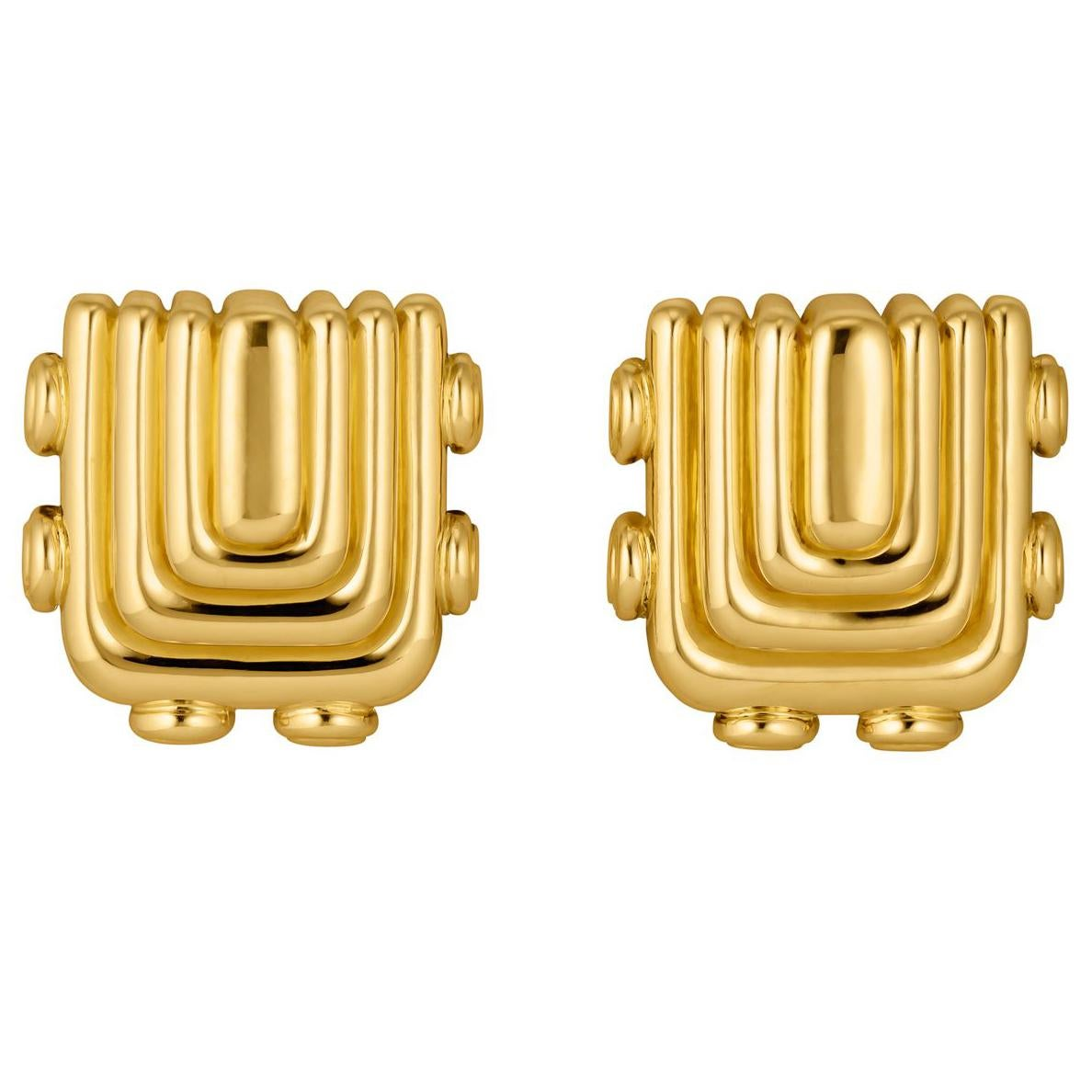 Vintage Cartier Aldo Cipullo Gold Earrings