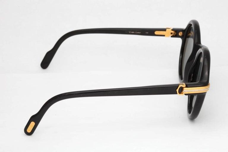 Vintage Cartier Black Cabriolet Sunglasses For Sale 3