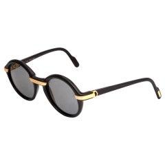 Vintage Cartier Black Cabriolet Sunglasses